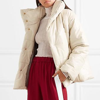 solid pu skinn parkas kvinner mote høy imitasjon skinn jakker