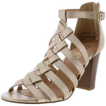 XOXO Womens Baxter Leather Open Toe Casual Slingback Sandals