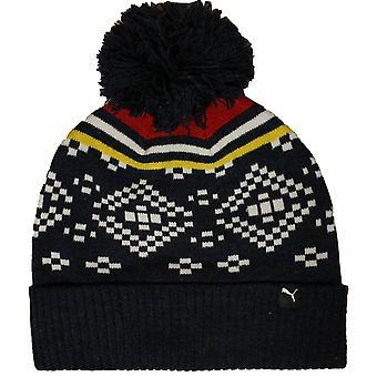 Puma Unisex Adultes Graphic Fold Beanie Hat Peacoat Heather 830133 01 A184C