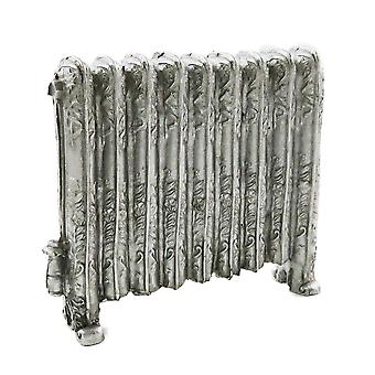 Dockor Hus Prydnads viktorianska radiator antik silver miniatyr 1:12 skala