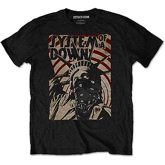 System Of A Down Liberty Bandit Official Tee T-Shirt Mens Unisex