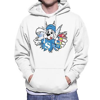 Slush Puppie Burst Through Men's Hooded Sweatshirt