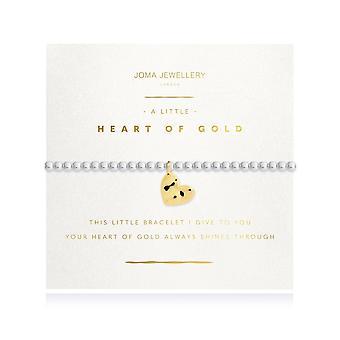 Joma Gioielli Radiance Un piccolo cuore di bracciale in argento oro bracciale stretch braccialetto 4217