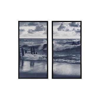 Maalaus Dekodonian meri ja valtameri Navy Blue (2 kpl) (53 x 3 x 103 cm)