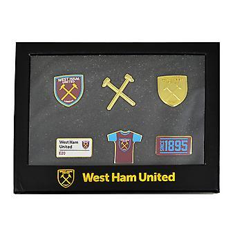 West Ham United FC officielle 6 stykke Badge sæt