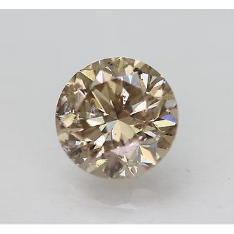 Cert 1,51 Karat hellbraun SI1 Runde brillante natürliche lose Diamant 7,08 mm 3VG