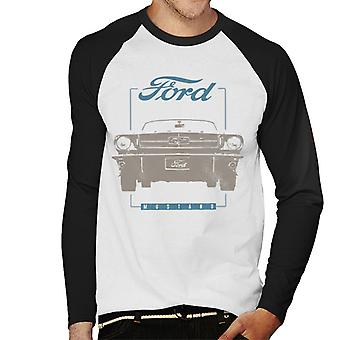 Ford Mustang Front View Men''s Baseball Long Sleeved T-Shirt