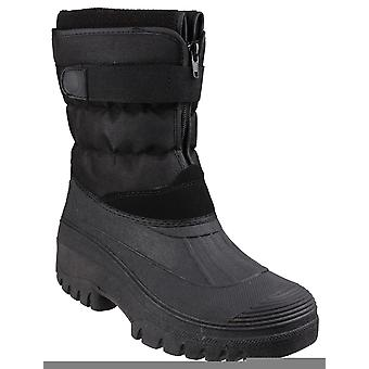 Cotswold chase touch-fastening zip winter boots mens