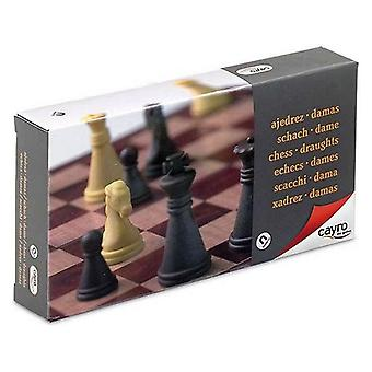 Chess and checkers board magnetic cayro (16 x 16 cm)