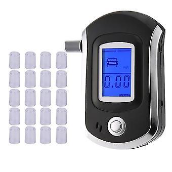 Profesyonel Dijital Nefes Alkol Test Cihazı 10 Filtre Ucu ile Lcd Ekranlı Breathalyzer