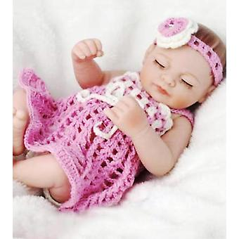 Sweater Set In Pink For 11 Inch Newborn Baby Girl Dolls