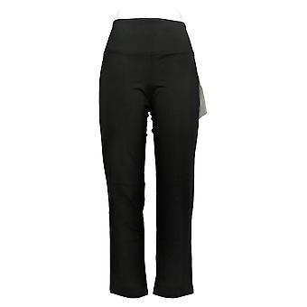 Vrouwen met controle vrouwen 's petite broek buik controle slim zwart A284090