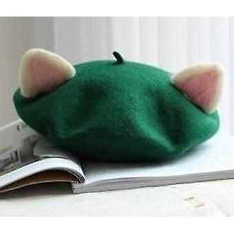 Lasten baretti söpö kissa muoto talvi syksy punk baretti hattu