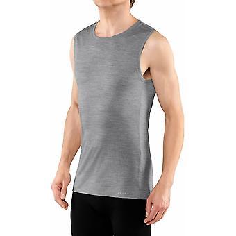 Falke Silk-Wool Almindelig Fit Singlet Shirt - Heather Grey