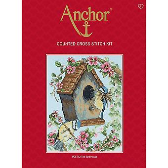 Anchor Counted Cross Stitched Kit PCE742 The Bird House New 25 x 20cm