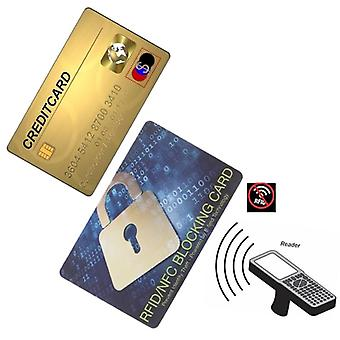 Portable Credit Card Protector, Rfid Blocking Nfc Signals, Shield Secure