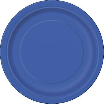 16 Grote blauwe kartonnen platen 23 cm