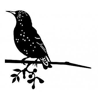 puutarhakuppi Starling 22 x 34 cm teräs musta