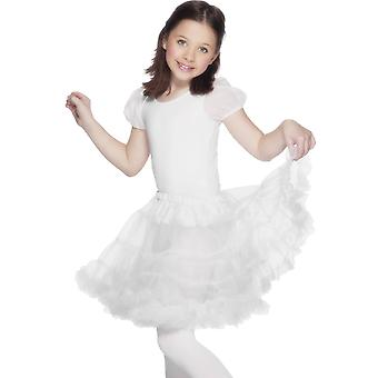 Jupon transparent blanc fille