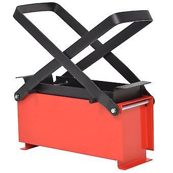 vidaXL Paperi Briquette Press Steel 34 x 14 x 14 cm Musta ja Punainen