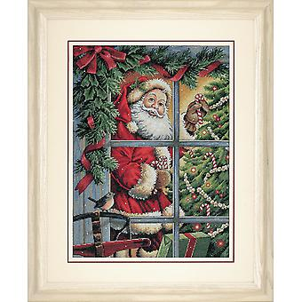 Dimensions Gold: Counted Cross Stitch: Candy Cane Santa
