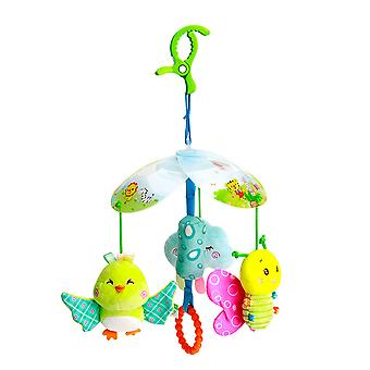 Birds Bees Rattle Toys With Bb Device Sound Paper Chime Plush Baby Hanging Toys Colorful Rattling Doll For Infant