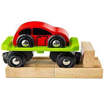 Bigjigs madera vagon de coche con coche