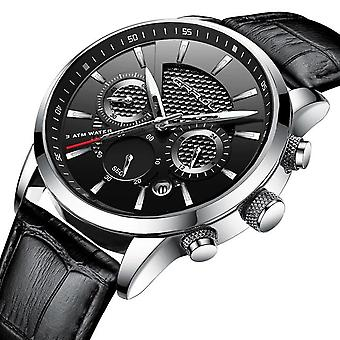 Luxury Waterproof  Quartz Watches(BLACK1)