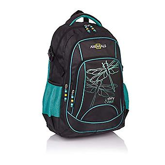 Animals Shiny und Teal Casual Backpack, 45 cm, 26 liters, Black