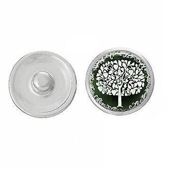 Trees - Snap Jewelry - Compatible With Ginger Snaps - Usa - Fourth Of