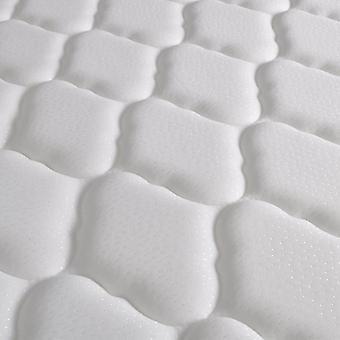 vidaXL Bett mit Memory-Schaum-Matratze Weiß Kunstleder 140x200 cm