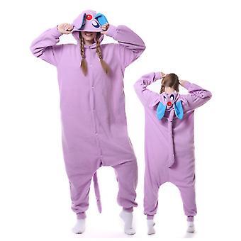 Regenboghorn Purple Cat Costume Pajama Onesie Kigurumi Jumpsuit Animal Hoodie