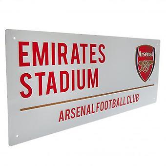Cartel de la calle blanca del Arsenal FC