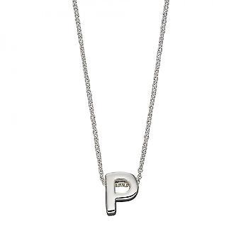 Начало P Простое серебро Начальное ожерелье N4443