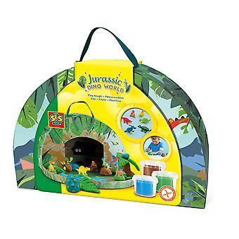 SES Creative - Jurassic Dino World Speelkoffer voor kinderen (meerkleurig)