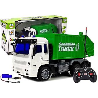 RC Garbage truck 27Mhz with light – Steerable toy truck