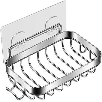 Мыло держатель 304 нержавеющей стали Бар мыло держатель с traceless клейкой лентой губка лоток для ванной комнаты и кухонной раковины