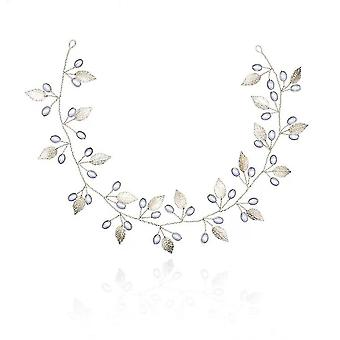 Tocado simulado horquilla de perla para la novia corona de cristal floral adornos de cabello elegantes novia