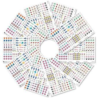 1.640 Bullet Journal Sticker im Set (Dekosticker für Scrapbooking, Tagebuch, Kalender, Notizbuch,