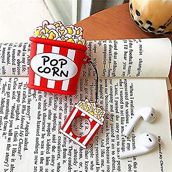Popcorn Case For Airpods 1&2,cute 3d Funny Cartoon Character Cover