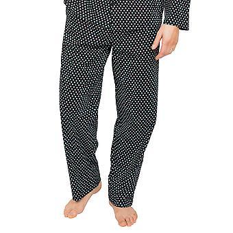 Cyberjammies William 6626 Miesten musta geometrinen puuvilla pyjamahousu