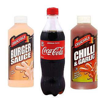 Seven Trees Farm Kit met 3 producten | 1 x Coca Cola, 1 x Burger Sauce 500ml, 1 x Chili & Knoflooksaus 500ml, Maak je verlangens met onze producten!