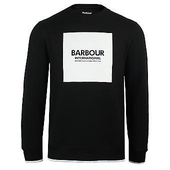 Barbour international men's black scortch sweatshirt