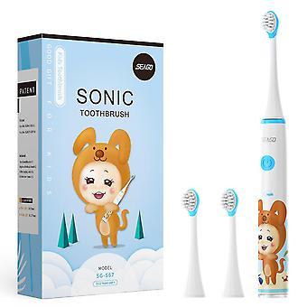 Seago sonic electric toothbrush ulepszona bezpieczeństwo dla dzieci automatyczna szczoteczka do zębów USB akumulator z 2 szt
