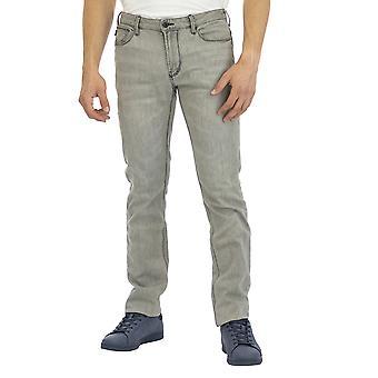 Emporio Armani Men 5 Pockets Pants Slim Fit Ankle length  Grey