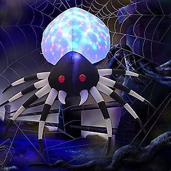 6 pies de altura Halloween inflables araña al aire libre con luz mágica, blow up yard decoration holgura con luces led incorporadas para vacaciones / fiesta / patio / g