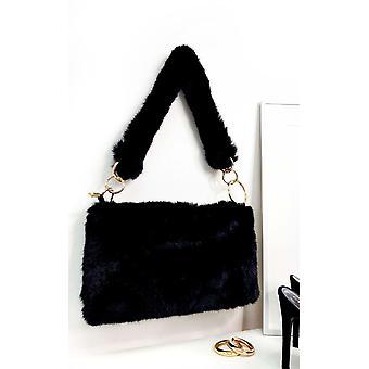 IKRUSH Womens Mills Fluffy Shoulder Bag