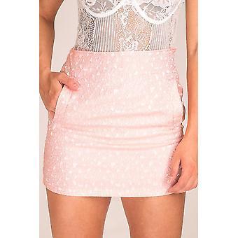 Geometric Patterned Mini Skirt