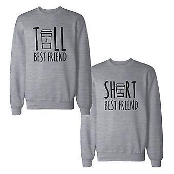 Wysoki, krótko najlepszych przyjaciół BFF bluzy bluzy pasujące