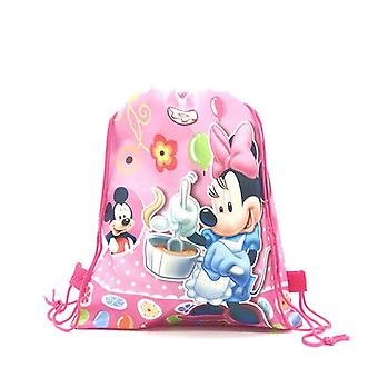 Minnie mouse disposable tableware set kids birthday party supplies paper plate cup napkin flag girl pink wedding cake decoration